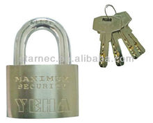 YEHA ExtraHigh Security Heavy-Duty Solid Brass Padlock with double locking hardened shackle padlock, Cofres De Acero Candados