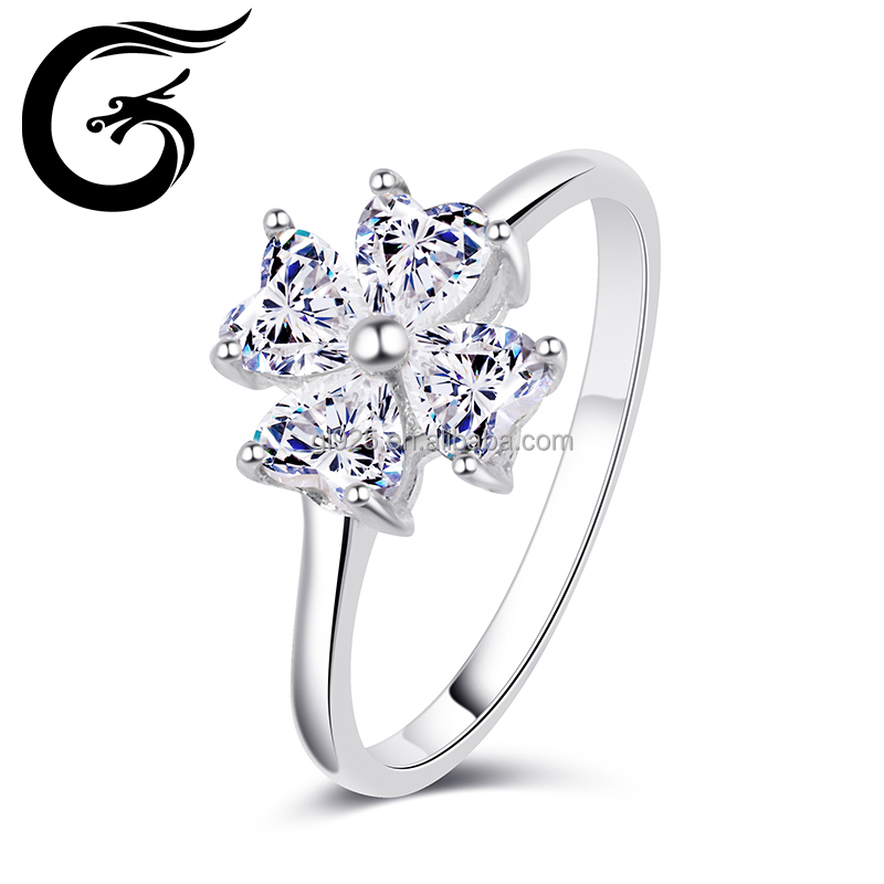 Big flower design 925 italian silver ring custom silver ring