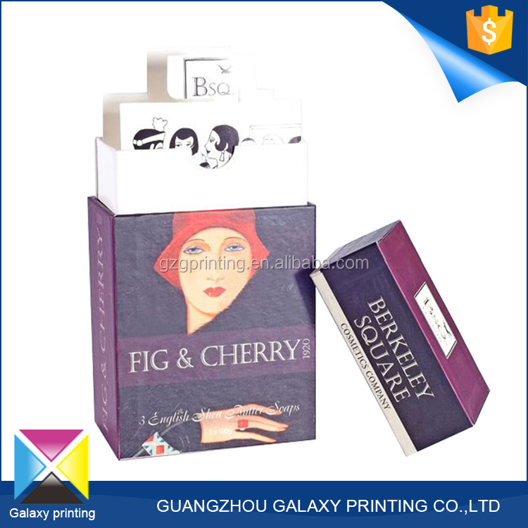 Hot-selling promotional custom cosmetic gift set 300 gsm paper packaging box