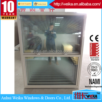 Single hung vinyl window,American style PVC hung window own brand Upvc profile