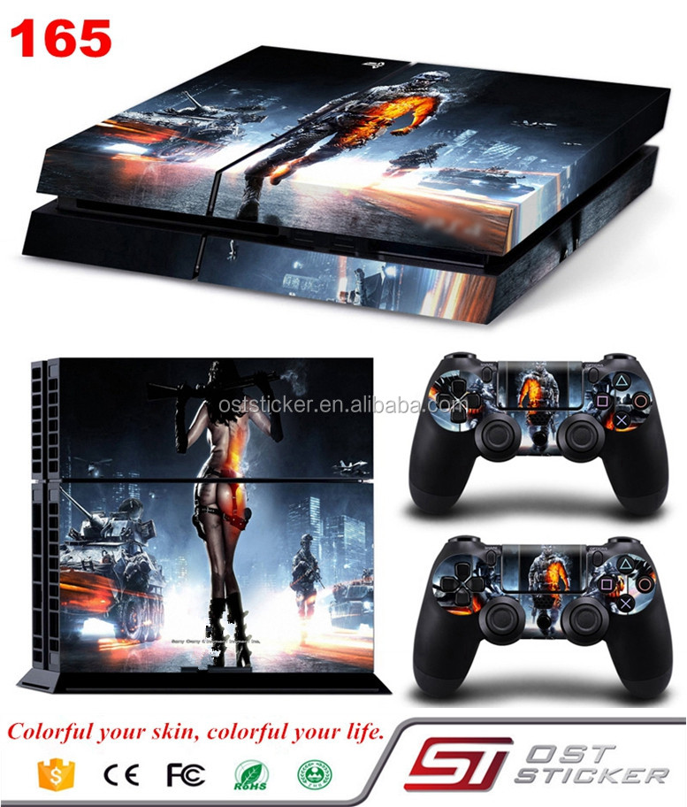 protective Vinyl Cover Skin Sticker for Sony PS4 PlayStation Console & 2 Controller Skins