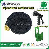2016 high quality factory price manufacturing expandable garden hose with sprayer and hanger
