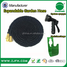 2017 high quality factory price manufacturing expandable garden hose with sprayer and hanger