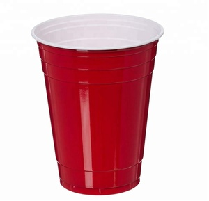 Red Disposable Cup ,Plastic Party Cup for Beer Pong & Bar & Wedding