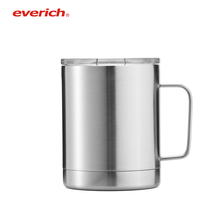 Stainless Steel Natural Color Double Wall Travel Coffee Beer Tumbler Cups with Handle For Sale Dad Mugs with Lids
