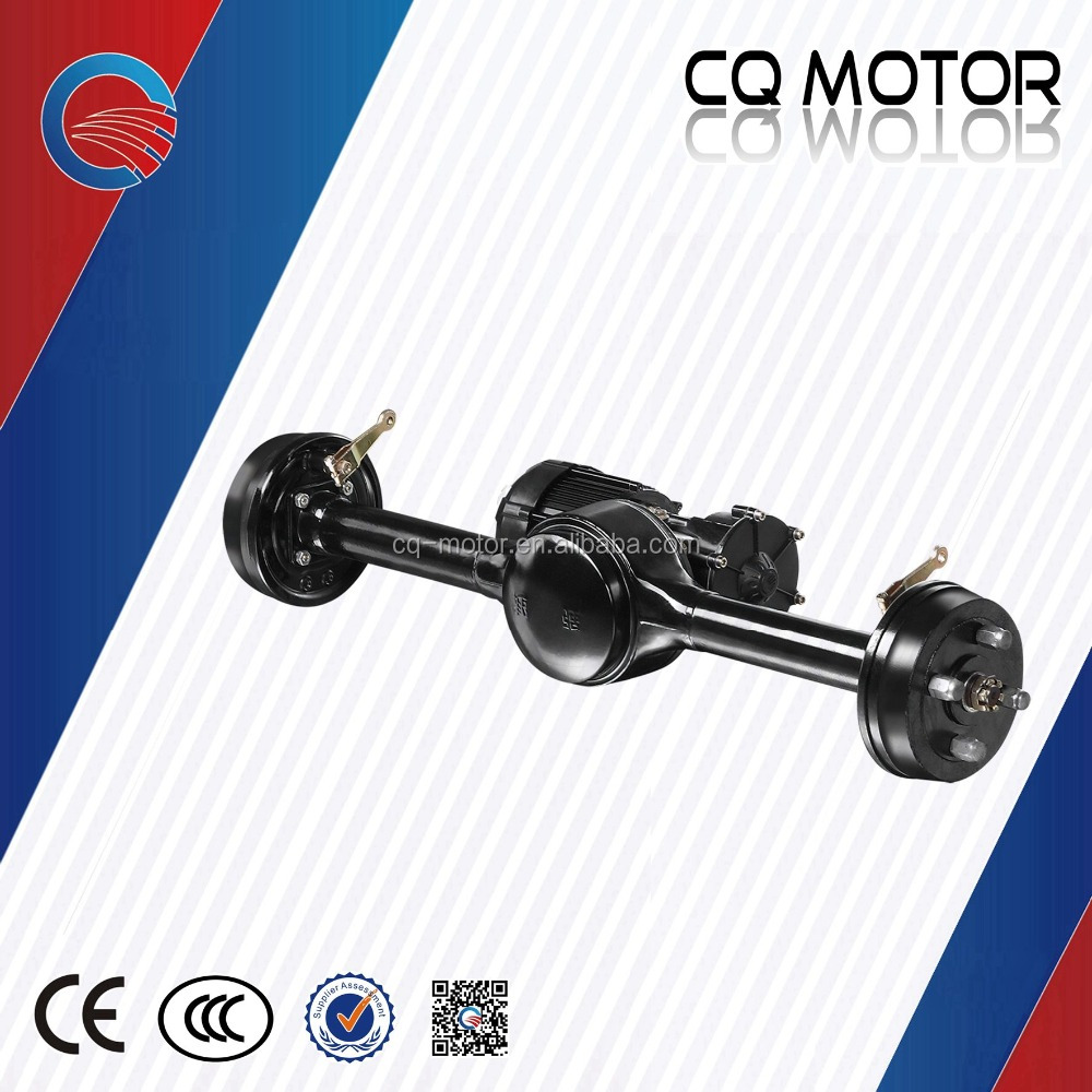 48v 1000w integrated gear drum brake bldc motor rear Transaxle for india