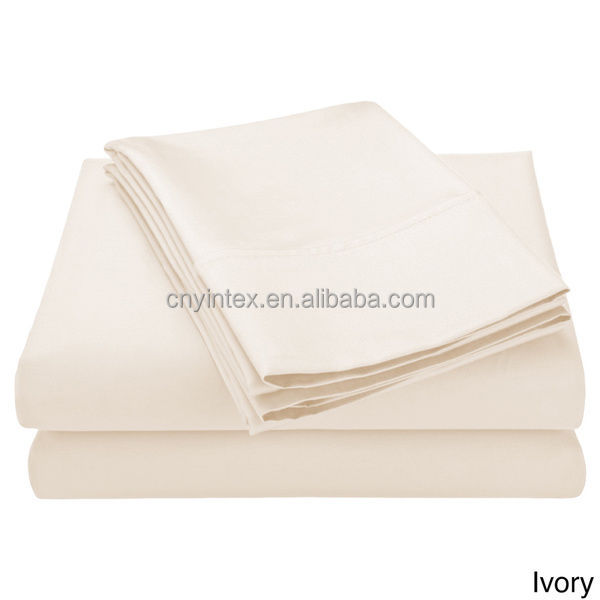 4pcs 100% Epypt Cotton plain solid color Wrinkle Free Bed Sheet Sets Bed Linen Sheets Bedding Set