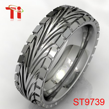 Tire tread ring,men's stainless steel tire ring