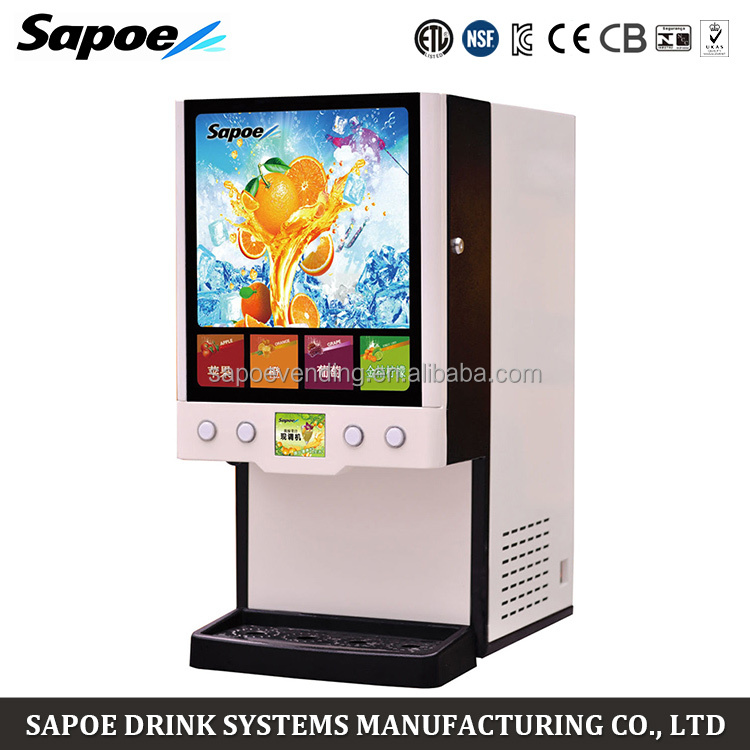 Sapoe SJ-71404L commercial concentrated fruit post mix hot and cold drinks juice machine