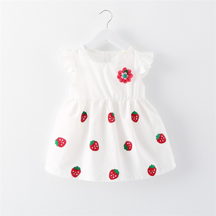 JB7012 Cheap Kid clothing Wholesale Strawberry New Model Girl Dress