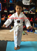 WTF approved taekwondo uniform, TKD uniform in white color