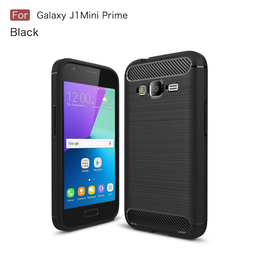 Carbon Fiber Case For Samsung Galaxy J1 Mini Prime TPU Brushed Texture Defense Case MT-6255