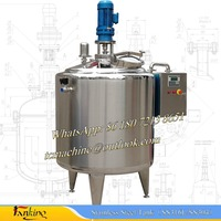 500L steam heating batch pasteurizer for yogurt