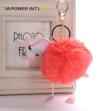 Wholesale handmade ball plush keyring, plush keychain
