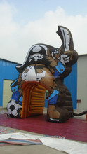 Inflatable Advertising Tent / Giant Entrance Tent With Pirate Carton Character