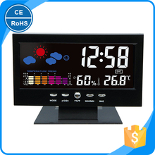 2017 Newest Large LCD Display Desk LED Weather Forecast Digital Alarm Clock with Temperature and Humidity Sensor