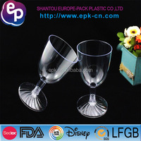 party tableware classical shape hot sale disposable plastic wine glass