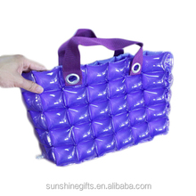 Custom printing Various Shape Protable Environment PVC Inflatable Beach Hand Bag for outdoor waterproof