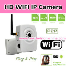 720P HD wifi home camera with H.264 video compression type