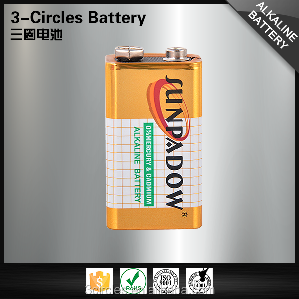Competitive price 6LR61 super alkaline dry cell 9v battery
