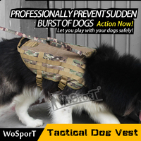 WoSporT Training 1000D Waterproof Nylon Tactical Dog Vest with Molle System and 5 Sizes for Selection (Size L)