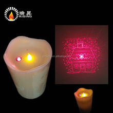 Latest new designs flickering wax laser led candle lighting with Laser