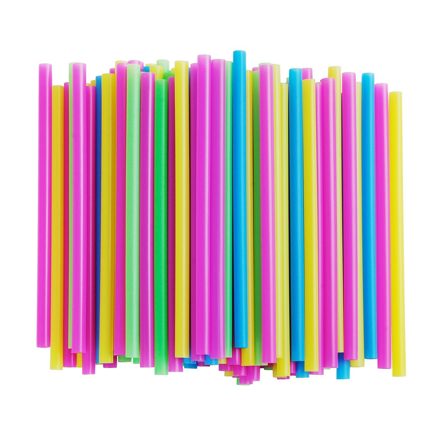 Reusable Smoothie Straws for Milkshakes, Bubble & Boba Tea