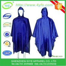 big size military use nylon /polyester material raincoat