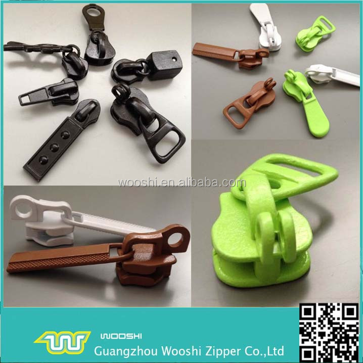 Wholesale Fancy Design customized Metal Zipper locked zip Slider head for Luggage