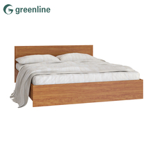 Luxury simple design double box teak wood craft bed / beds furniture