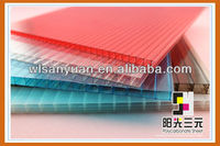 Lightweight 8mm hollow twin-wall polycarbonate sheet