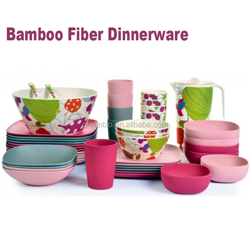 China supplier bamboo fiber dinner plates/bowl/cups,Copy ceramic dinner set