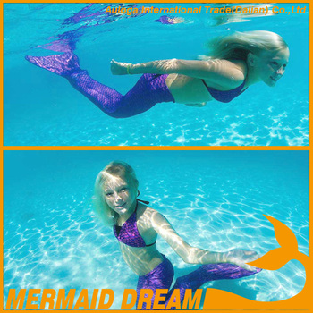 Amazon Hot sellling Swimmable mermaid tail with Monofin for kids and adults f5cb7bbfb8