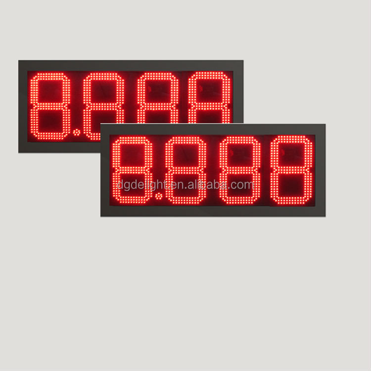 gas station design/ outdoor 4 digits gas price led signs/ led numbers display boards