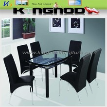 popular style home furniture 4 seater 6 seater 8 seater chairs glass dining table