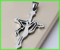 Fashion 12 Zodiac cross pendant necklace