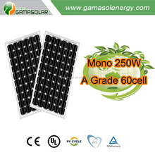 Gama Solar 250w A Grade solar panel solar mono 60cell support frames of solar panel