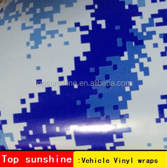 3m Camouflage Vinyl Film Wrap Blue Digital Camo Pvc Decorative Film