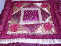 Embroidery design bedspread