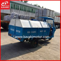 Hot Africa Market 2014 New Design Chinese Reverse Trikes With Huge Garbage Container And Self Discharging System