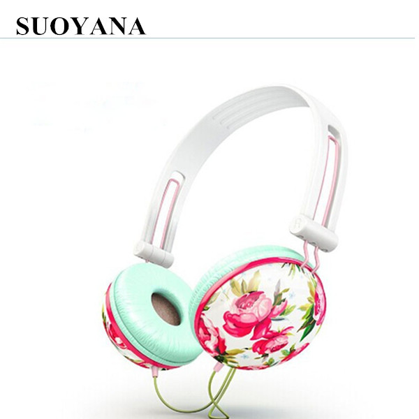 High definition hot sale bling headphones pink with best price