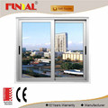 Anodizing aluminum frame 15mm single low-e glass sliding window for Europe
