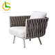 Modern design high quality Italian rope woven sectional couch living room sofa furniture