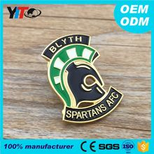 Custom plating color metal crafts nameplate emblem fashion design security pin badges high quality