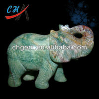 40mm gemstone carved elephant figurines for wholesale