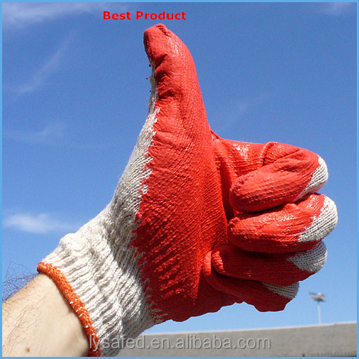 Oil and gas safety glove with white latex