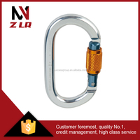 Metal safety locking carabiner