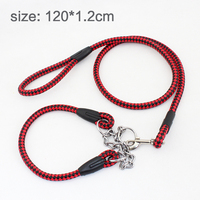P pet chain traction rope PU Dichotomanthes leather belt neck sleeve dog chain pet collar Dog Leash 120*1.2cm