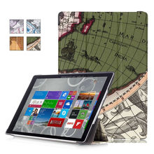 The Map Tri Fold PU Leather Tablet Case Cover For Nokia Microsoft Surface Pro 4