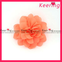 cheap soft handmade fabric shoe flower for shoe accessory WSF-252